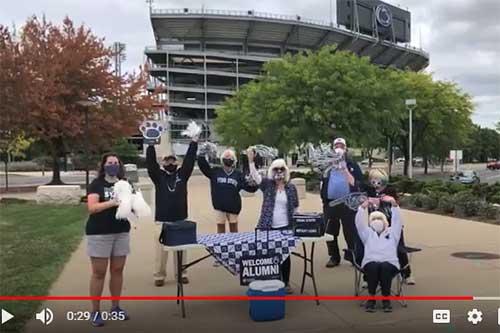 Virtual Homecoming Parade screenshot of a Chapter